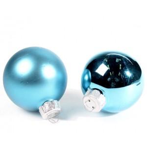 Boule en verre bleue 6cm
