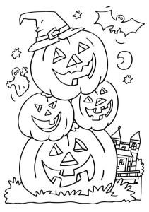 Halloween-coloriage citrouilles